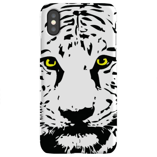 iPhone X Snap Case with Logo's Eyes