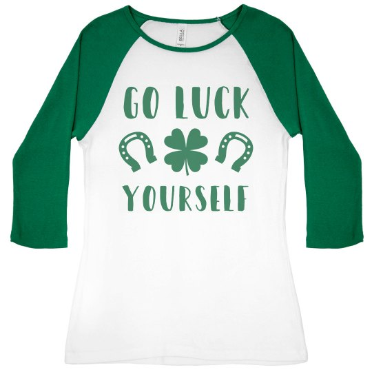 Irish Go Luck Yourself Shamrock