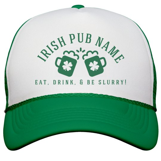 Irish Pub Green Hat St Patricks
