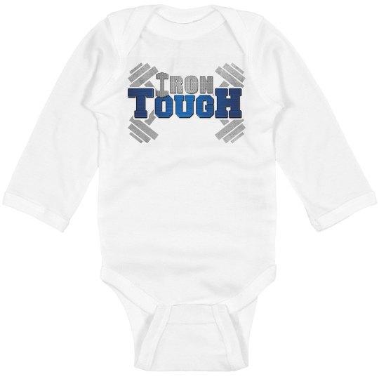 IronTough Infant Long Sleeve Baby Rib Onesie