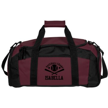 Isabella. Baseball bag