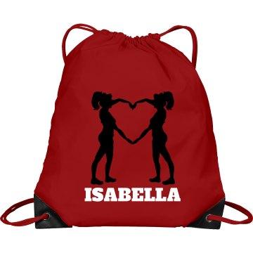 Isabella cheer bag