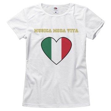 Italian flag top