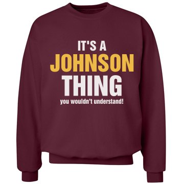 It's a Johnson thing