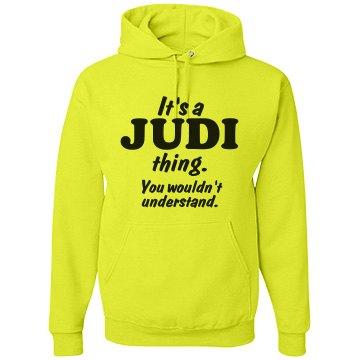 It's a Judi thing!