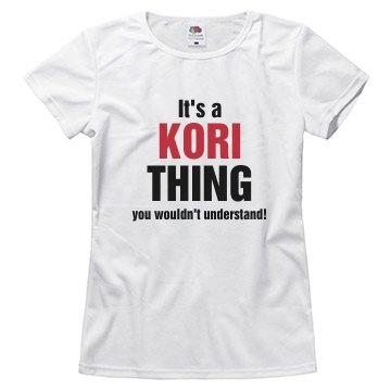 It's a Kori thing