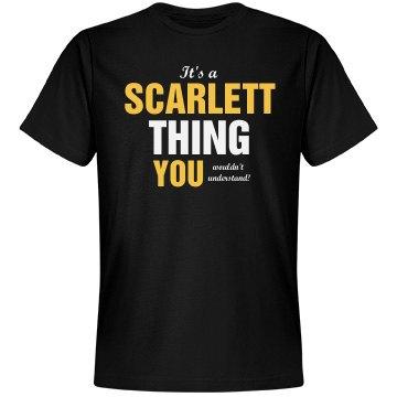 It's a scarlett thing