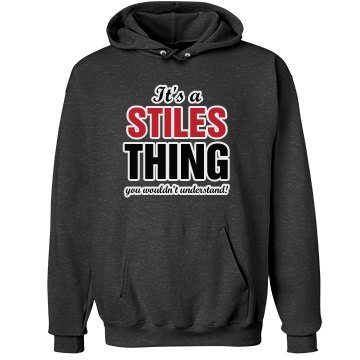 It's a stiles thing