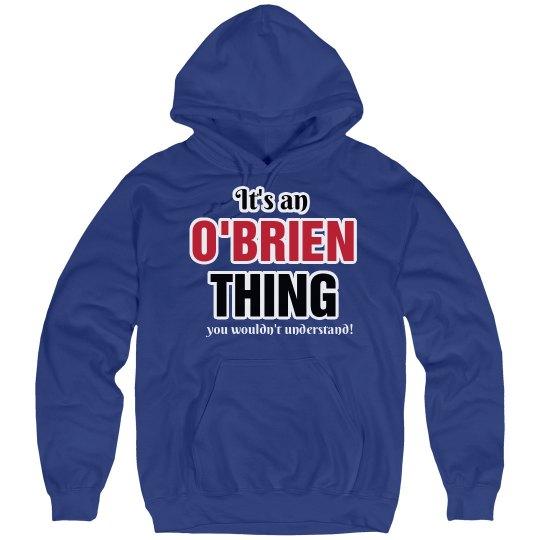 It's an O'brien thing