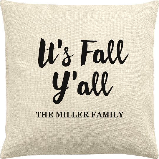 It's Fall Y'all Custom Family Name