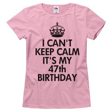 It's my 47th birthday