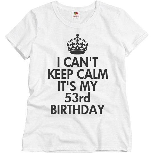 It's my 53rd birthday