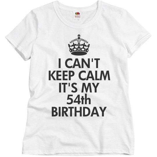 It's my 54th birthday