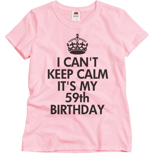 It's my 59th birthday