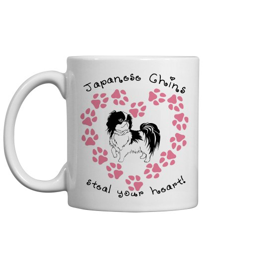 Japanese Chins Steal Your Heart - Coffee Cup/Mug