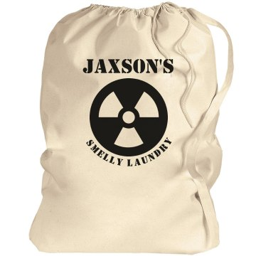 Jaxson's laundry bag