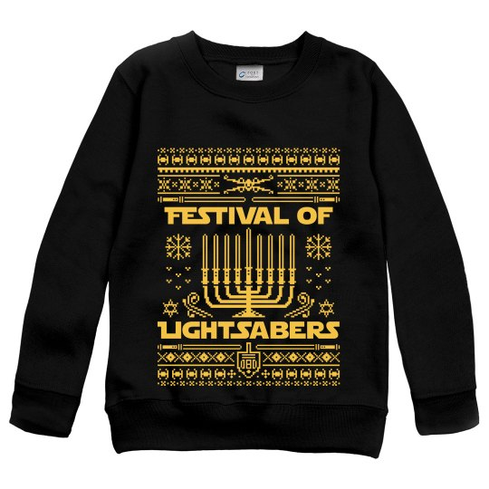 Jedi Hanukkah Long Sleeve