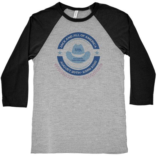 "JJOA 44th Convention ""Close The Gap"" Baseball Tshirt"