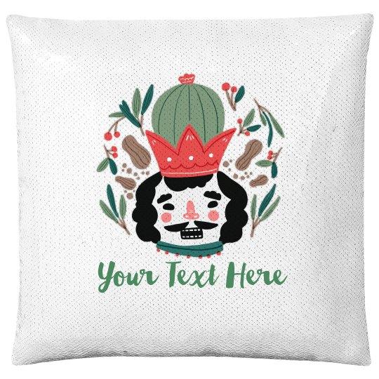 Jolly Nutcracker Custom Pillow