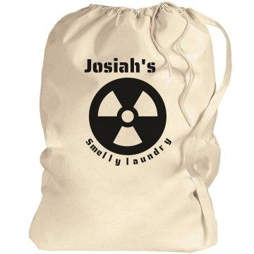 Josiah's laundry bag