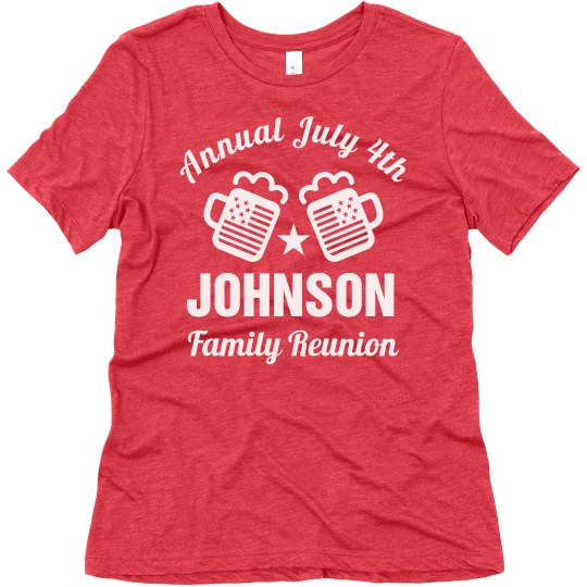 July 4th Family Reunion Group Tees