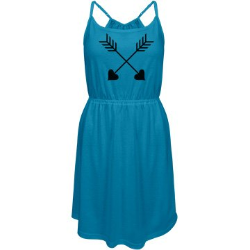 junior fit district strappy dress