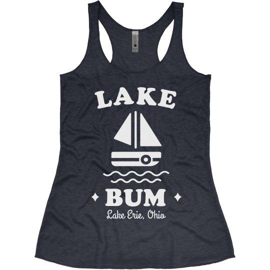 Just a Lake Bum Custom Cute Boat Vacation Tank