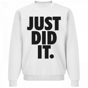 just did it fitness fashion womens sweater