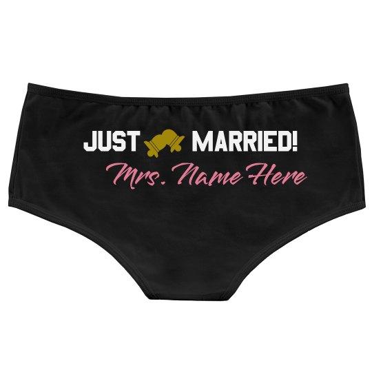 Just Married Custom Undies