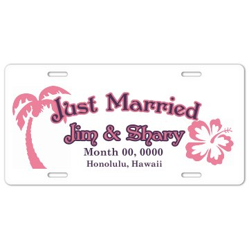 Just Married Plate