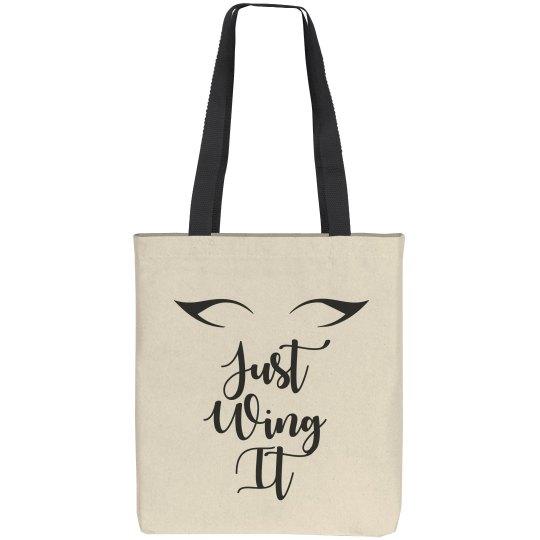 Just Wing It Eyeliner Tote Bag