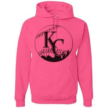 KC Baseball Skyline NEON Hoodie