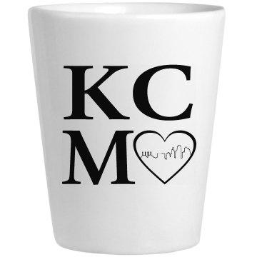 KCMO Heart of the City Shotglass