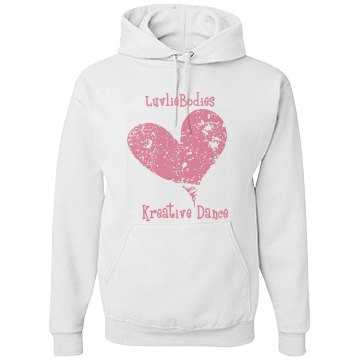 KDC white heart hoodie