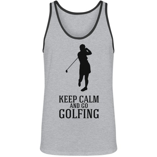 keep calm and go golfing