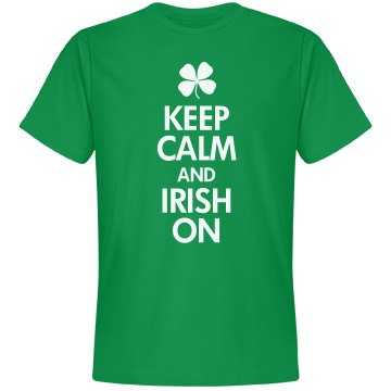 Keep calm and Irish on shirt
