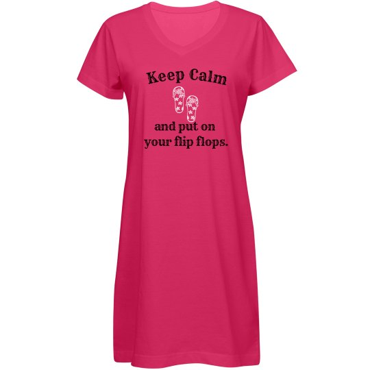 Keep Calm Cover Up - hot pink