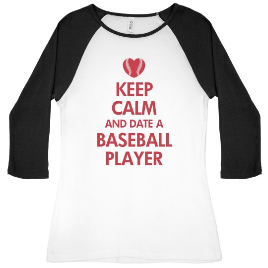 Keep Calm Date Baseball