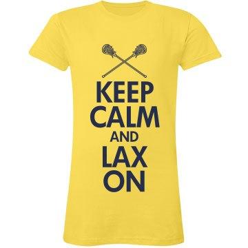 Keep Calm Lax On Lacrosse Pride Tee