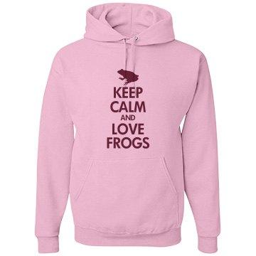 Keep calm love frogs
