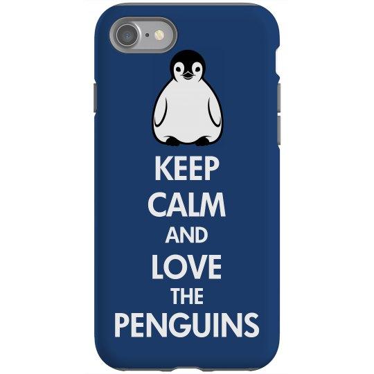 Keep Calm Penguin Case