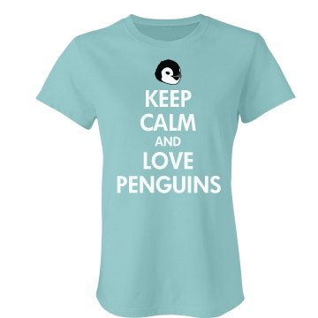 Keep Calm Penguin Love