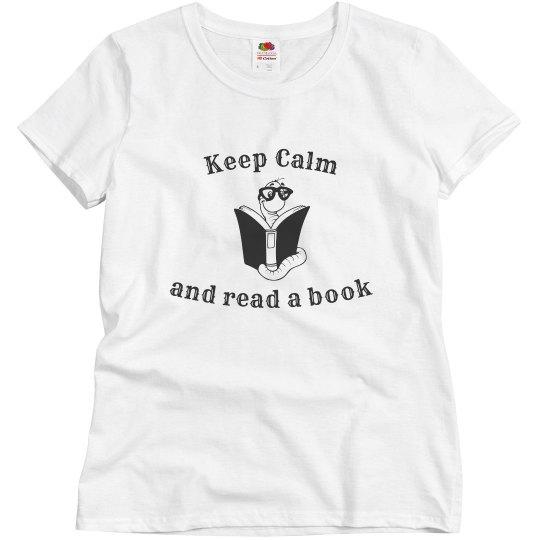 Keep Calm Read - w white