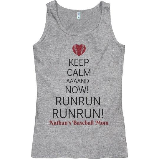 Keep Calm Rowdy Baseball Mom Shirt Tank Top