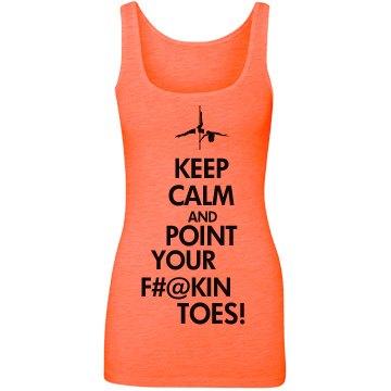 Keep Calm Tank Orange