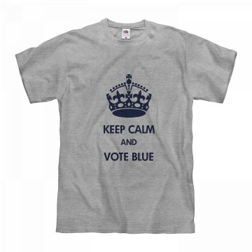 Keep Calm Vote Blue MDMP