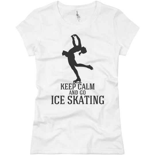 keep calm-go ice skating