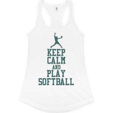 Keep Calm-Softball