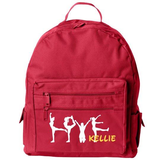 Kellie Loves Cheering Custom Cheerleader Bag With Name