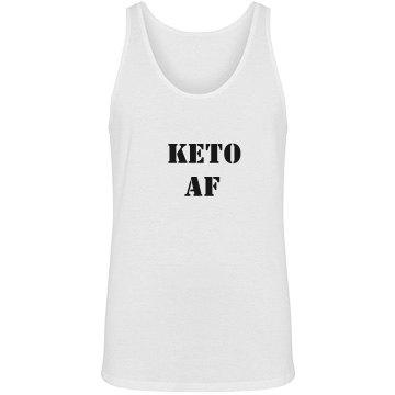 Keto AF unisex tank top - black text